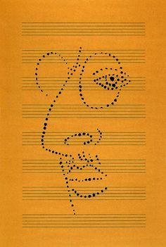 Igor Stravinsky by Paul Rand Graphic Design Print, Logo Design, Rand Paul, Moholy Nagy, Music Love, Classical Music, Caricature, Graphic Illustration, Illustrations Posters