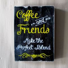 woodpainting 30 x 40 x 2 cm  #woodpainting #woodsign #homedecoration #homeandliving #vintage #alldecos #kasongan #indonesia #coffee #friends