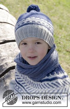 Little Adventure Set consisting of hat and cowl for the kids by DROPS Design…