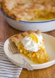 Spring Recipe: Meyer Lemon Shaker Pie — Recipes from The Kitchen -This looks like a winner. Add a scoop of vanilla ice cream and sit out on the deck on a summer day and enjoy!