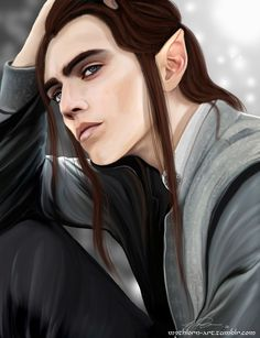"mythlorn-art: "" Maedhros - Commission Maedhros for maedhrosrussandol. Thank you for the chance to paint such a great elf Tolkien, Character Creation, Character Art, Character Design, Lotr, Male Elf, Elf Art, Character Portraits, Male Portraits"