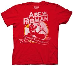 Abe Froman Adult Red Tee Shirt   --This cool t-shirt based on Ferris Bueller's Day Off