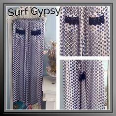 Super Cute Pants by Surf Gypsy These pants are adorable and super comfy too, lightweight flows rayon print, elastic drawstring waist with raddled ties, back pockets with crochet trim Surf Gypsy Pants Wide Leg