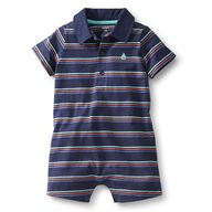 Jersey Polo Striped Romper.  How cute would my son be in this