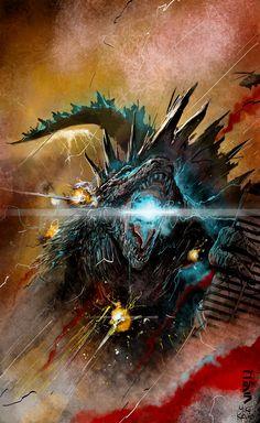 Godzilla by Mike Kevan