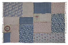 Millie Patchwork Rectangle Rug 60 x 96 from VHC Brands (Victorian Heart). This rug is made of cotton printed canvas fabrics and measures 60 x 90 rectangle.
