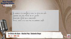 La Chica de Ayer - Nacha Pop / Antonio Vega Vocal Backing Track with cho...