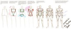 Man figure tutorial by Pandabaka on deviantART