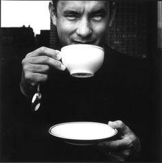 Tom Hanks drinking #coffee