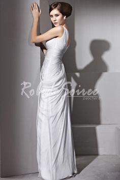 A-ligne col en V perles robe de soirée tencel Drapage [RDS1302040184] - €263.63 : Robe de Soirée Pas Cher,Robe de Cocktail Pas Cher,Robe de Mariage,Robe de Soirée Cocktail.