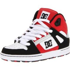 on sale 93714 48c75 DC Rebound Youth Boys US Size 11.5 Black Leather Skate Shoes Amazon.ca  Sports  Outdoors