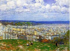 Frederick Childe Hassam - View of New York from the Top of Fort George,1920