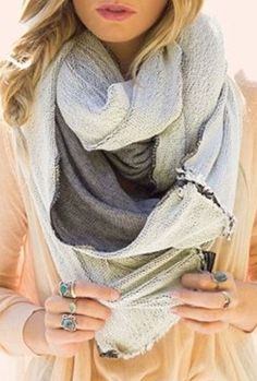White & Grey Infinity Scarf ♥
