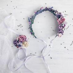 Lavender weddingBridal floral crown bridal flower crown