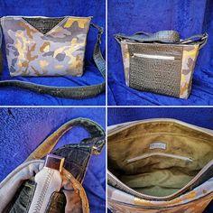 carole_hurty Et voilà mon sac mambo taille médium de @patrons_sacotin 😁😁😁... il est fait de trois tissus totalement différents : cuir et velours camouflage pour l extérieur et suédine pour l intérieur. J'avais eu un gros coup de cœur 😍pour le velours camouflage de @lamerceriedescreateurs et ce patron de sac est parfait pour le mettre en valeur !!! 😉😉😉 #sac #sacamain #sacbandouliere #lamerceriedescreateurs #patrons_sacotin #sacotin #cousumain #faitmaison #coutureaddict