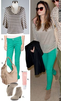 this outfit: mint skinny jeans and navy striped blouse are on order {by Karlie} and will arrive at Sugar in just a few weeks. Love.