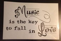 """painting stencil quote text """"Music is the key to fall in Love"""" by stencilfi on Etsy https://www.etsy.com/listing/250769229/painting-stencil-quote-text-music-is-the"""