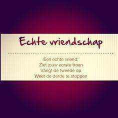 #echte #vriendschap #real #friendship Sad Quotes, Life Quotes, Dutch Words, Best Friends Forever, True Friends, Friendship Quotes, Positive Quotes, Texts, Stress