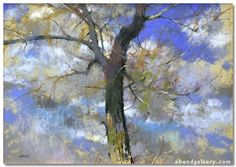 A Blustery Moment (pastel, by Albert Handell Pastel Landscape, Landscape Art, Landscape Paintings, Pastel Drawing, Painting & Drawing, Chalk Pastels, Soft Pastels, Expo, Tree Art