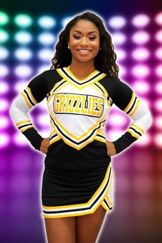 Traditional Polyester Cheer Uniform #impactapparel #cheer #cheeruniform