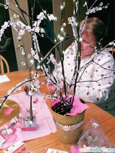 Faux an real branches ready for decorating