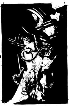 Mike Mignola, scrapped Hellboy in Hell Omnibus cover Comic Book Artists, Comic Books Art, Comic Art, Hellboy Tattoo, Mike Mignola Art, Like Mike, Metal Magazine, Jack Kirby, Comics