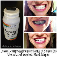 From Flab to Fab Fitness - Fitness. Food. Fun. Life. : Whiten Your Teeth in 5 Minutes with Activated Charcoal AKA BLACK MAGIC !