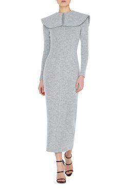 Jacqueline Collared Midi Dress by EMILIA WICKSTEAD Now Available on Moda Operandi