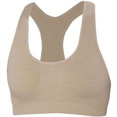 Ibex Women's Balance Sport Bra ($60) ❤ liked on Polyvore featuring activewear, sports bras, sand dollar, racer back sports bra, seamless sports bra, racerback sports bra and ibex
