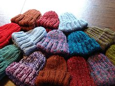 Pattern uses doubled worsted or bulky yarn. Sizes given for men; ladies, teens and schoolage children.