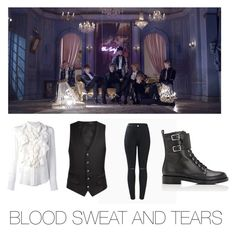 """Mila's casual wear Blood sweat and tears (BTS) edition"" by pantsulord on Polyvore featuring Chloé and Gianvito Rossi"