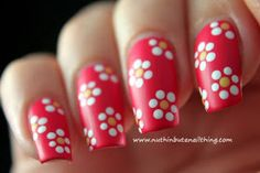 Simple Dot Flower Nail Art Tutorial Designs Pretty