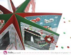 Cómo hacer un mini álbum de Navidad con Anita y su mundo Reno, Scrapbook Albums, Playing Cards, Christmas, Crafts, Diana, Holidays, Christmas Stars, Merry Christmas Card