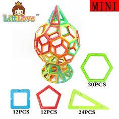 LittLove 68Pcs Magnetic Construction Models Building Blocks Toys DIY 3D Magnetic Designer Learning Educational Bricks Kids Toys #Affiliate