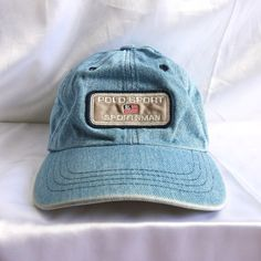 Vintage POLO SPORT Sportsman Ralph Lauren RL Flag Strapback Cap Hat 569dd17591