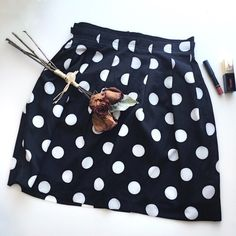 🎯HP🎯Polka Dot Flare Skirt♣️ You can dress up/ down😉 Size S. 100% polyester. Lined. Worn once. Like New Condition💕  ✗No paypal, No trade ✗I don't sell on any other site ✔I do accept reasonable offers ✔️Items will be shipped within 1-2 business days 💝Bundle 2+ items to get 10% off! Skirts