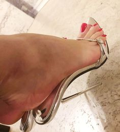 # Silver Flat it is summer months or the winter season, if there is something that individuals always Open Toe High Heels, Hot High Heels, High Heels Stilettos, Stiletto Heels, Beautiful High Heels, Beautiful Toes, Sexy Legs And Heels, Dress And Heels, Pantyhose Heels