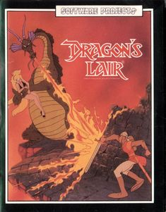 Dragon's Lair for Commodore 64 - MobyGames Vintage Video Games, Classic Video Games, Retro Video Games, Vintage Games, Video Game Art, V Games, Arcade Games, Cultura Nerd, Computer Video Games