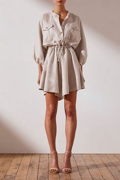 Women Dresses Casual baby girl dresses womens clothes wide leg pants a – dearmshe Mini Dress With Sleeves, The Dress, Women's Fashion Dresses, Dress Outfits, Casual Dresses For Women, Clothes For Women, Frack, Corte Y Color, Looks Street Style