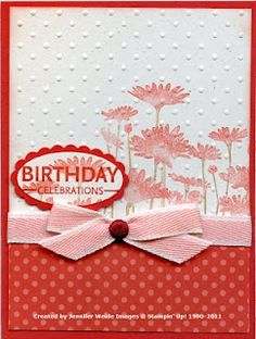 stamp card then use embossing folder  I like the idea, I think I would add some other colors rather than all the same shade