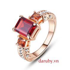 nhẫn đá ruby nữ