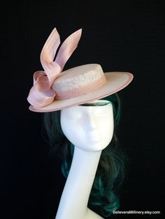Your place to buy and sell all things handmade Kentucky Derby Fashion, Boater Hat, Melbourne Cup, Vintage Tea, Dusty Pink, Fascinator, Tea Party, Carnival, My Etsy Shop