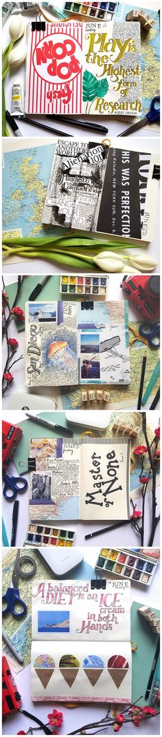 FREE Daily Art Journal Prompts for the month of June over at creativepassport.org