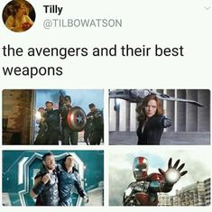 The avengers and their best weapons #GetHelp