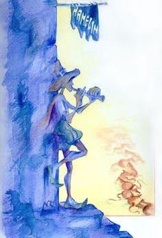 365ilustraciones: El flautista de Hamelín (The Pied Piper of Hamelin...