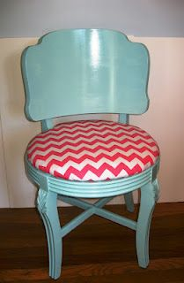 My new sewing room chair how to tutorial blogged at www.aggieray.blogspot.com