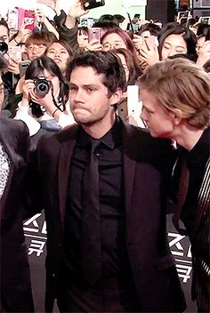 Maze Runner: The Death Cure red carpet event gif