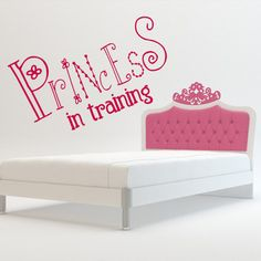 Wall decal decor decals princess training crown nursery inscription letter cartoon cheerful girl story Wall Stickers Murals, Wall Decal Sticker, Toy Chest, Storage Chest, Cheer, Toddler Bed, Nursery, Training, Crown