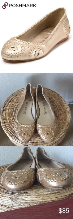 Jack Rogers USA Slim Ballet Flat All leather gold jack Rogers ballet flats. Worn 3 times. Jack Rogers Shoes Flats & Loafers