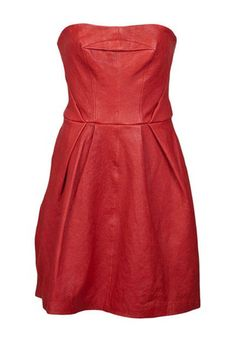Thakoon Addition Leather Strapless Dress
